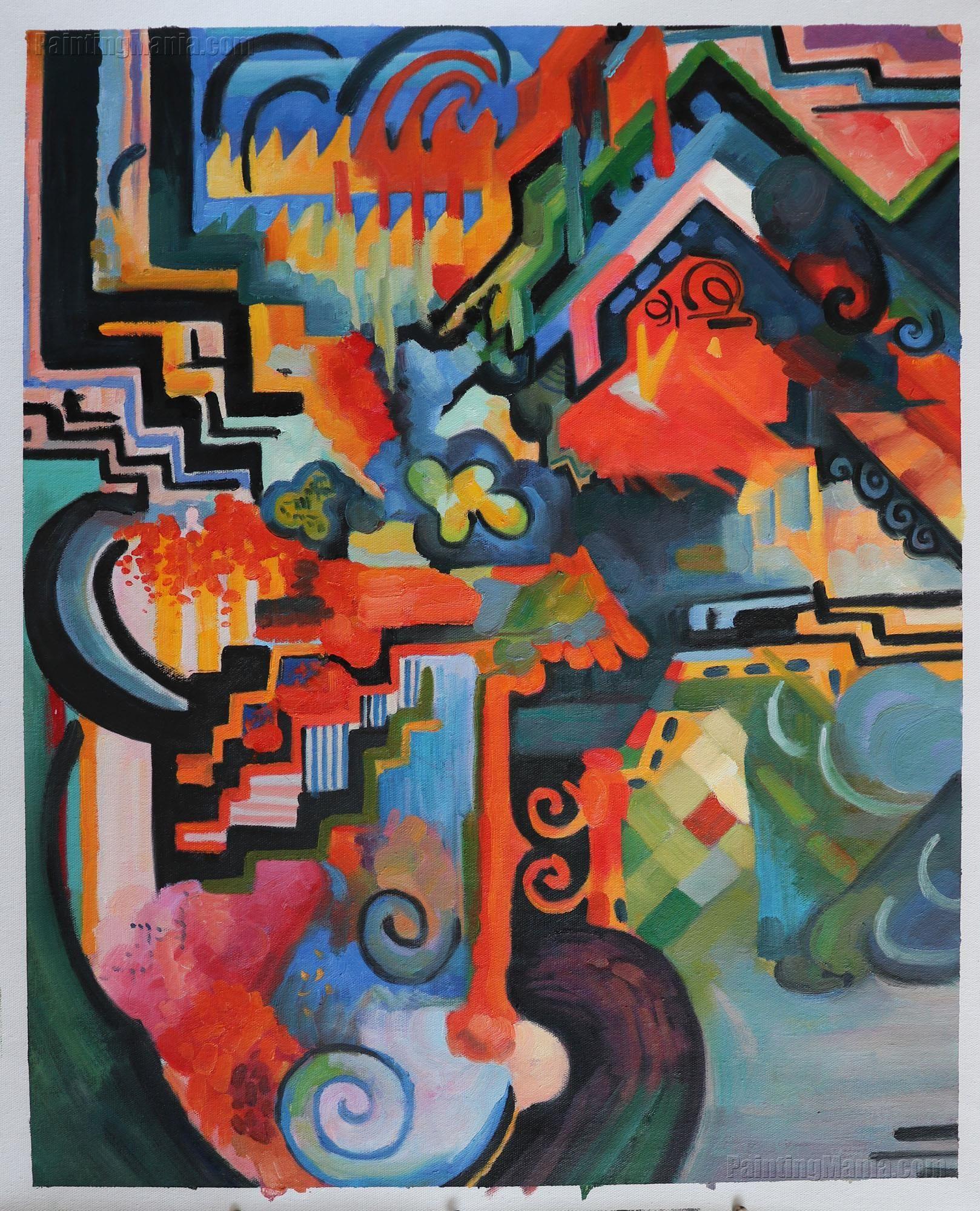 Цвет и композиция открытки, смешные