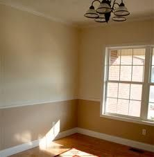 Different color above and below chair rail | Living room ...