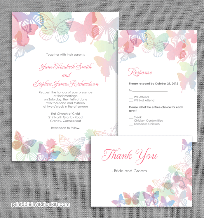 35 free printable wedding invitations - Printable Wedding Invitation Kits