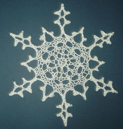 Knitted Snowflake By Sharon Winsauer Free Pattern On Ravelry