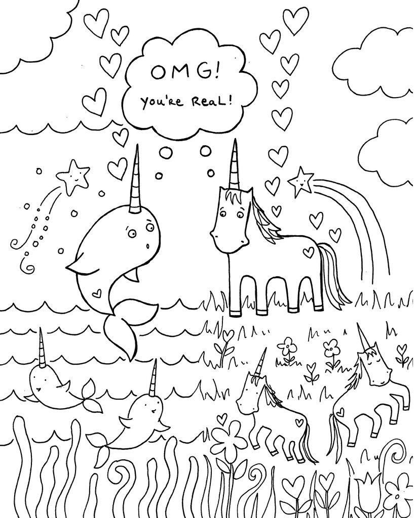 42 Coloring Page Narwhal Birthday Coloring Pages Happy Birthday Coloring Pages Unicorn Coloring Pages