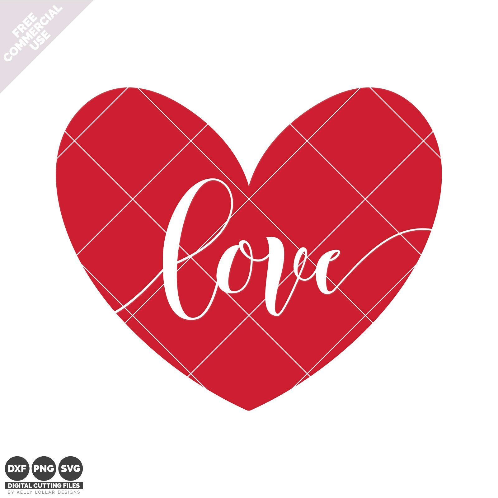 Love Heart SVG File for Valentine's Day Kelly Lollar