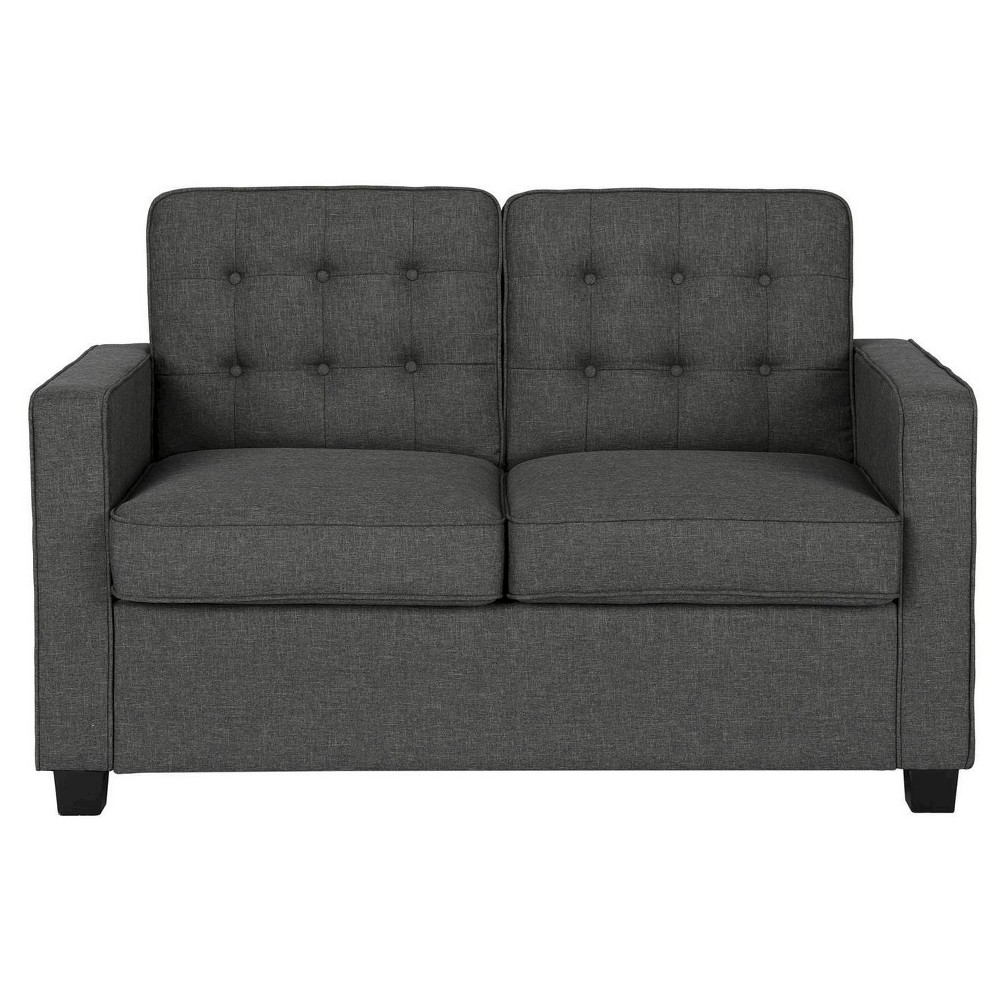 Avery Sleeper Sofa With Certipur Certified Memory Foam Mattress Twin Grey   Dorel Home Products,