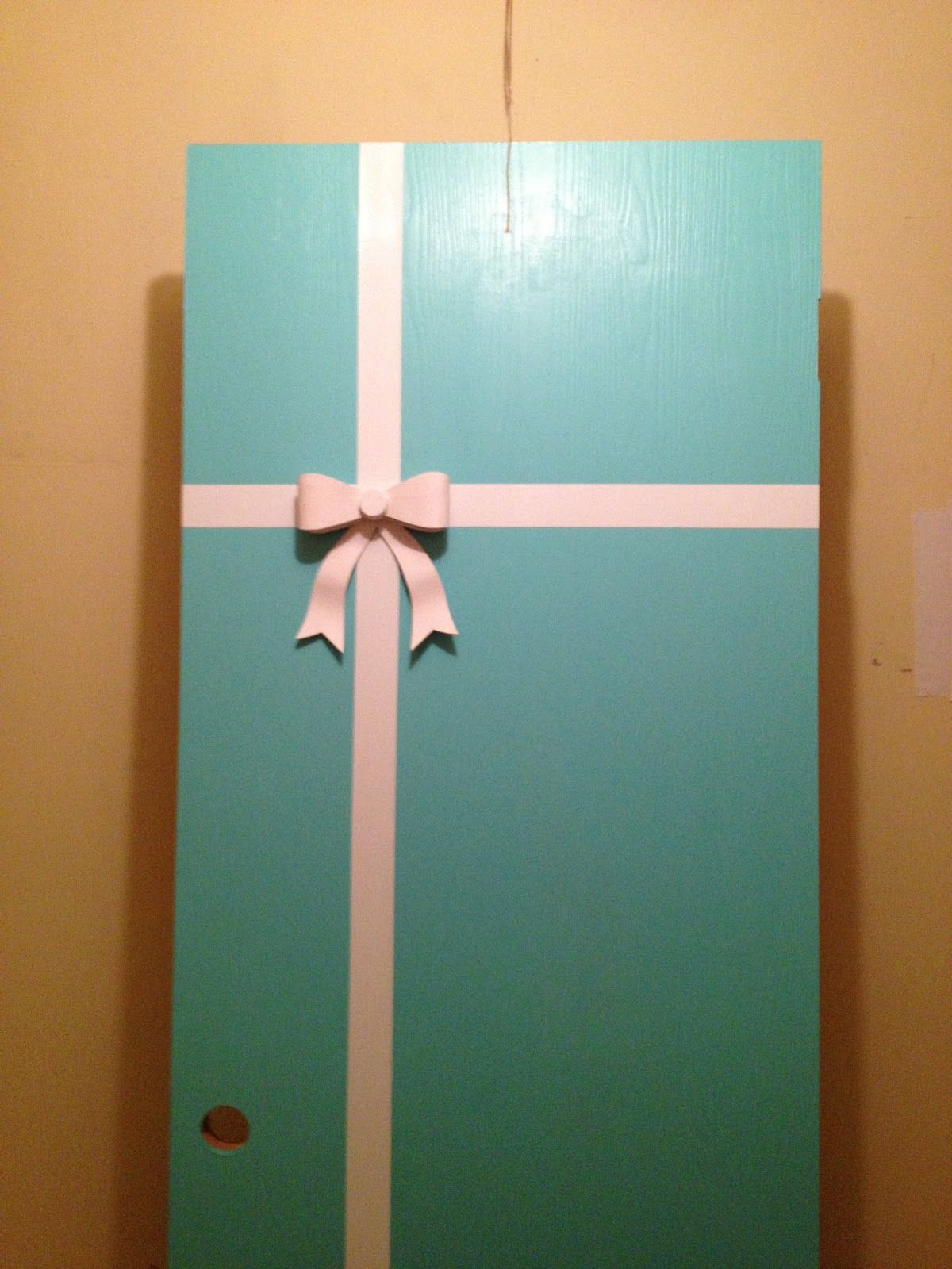 My Tiffany & Co. inspired closet door. Holly Golightly would be so ...