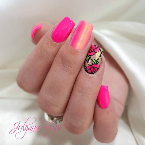 valentine's day rose nail art  rose nails rose nail art