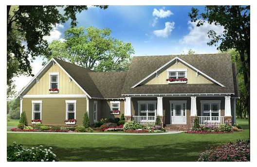 Traditional Style House Plan 4 Beds 2 5 Baths 2100 Sq Ft Plan 21 290 Craftsman Style House Plans Country House Plans Bungalow Style House Plans