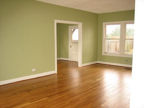 Beautiful Green Paint! These Floors Are The Same Color As Ours In The New House :