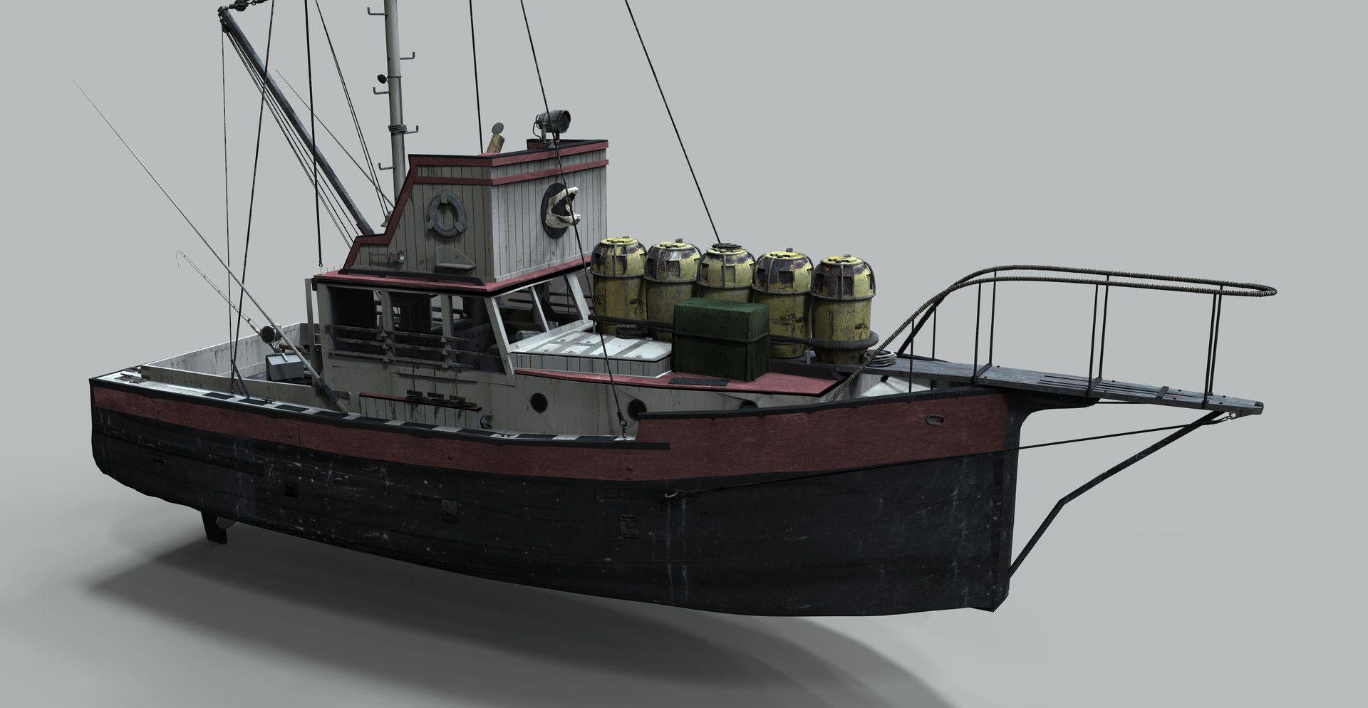 Artstation Jaws Orca Boat Robert Mckinnon Jr Jaws Boat Orca Boat