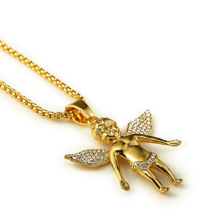 Angel Series/ High Quality 18K real Gold plated Fly Boy Angel Baby ...