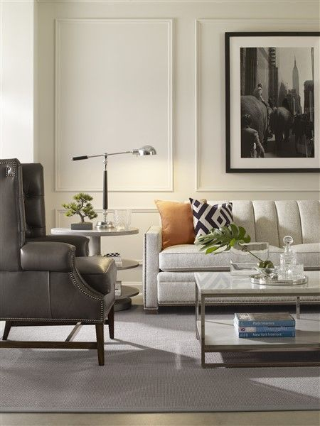 Vanguard Living Room Furniture: Vanguard Furniture: Living Room With Accents Of Orange And