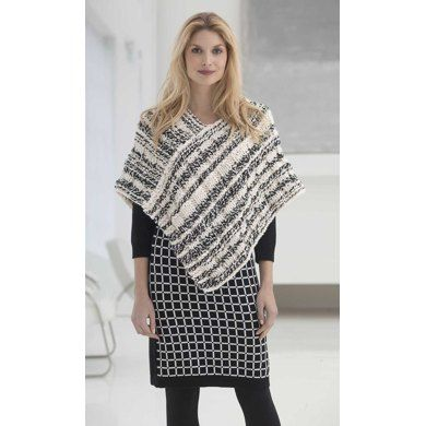 Newsprint Poncho In Lion Brand Wool Ease Thick Quick L32425