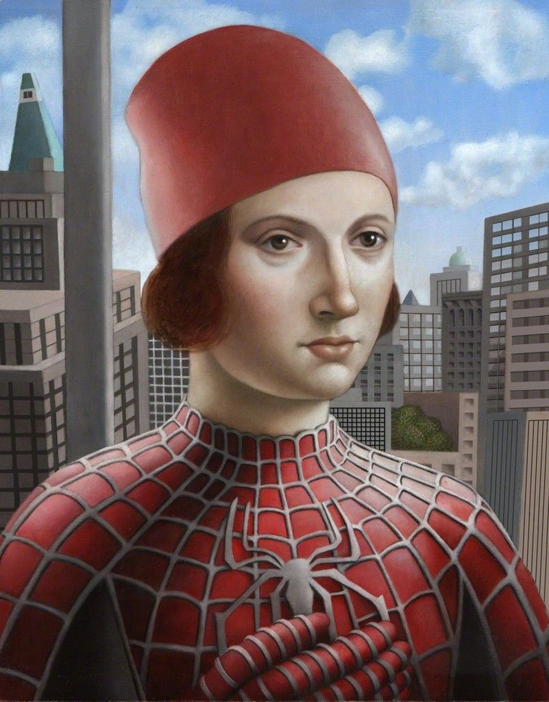 Amy Hill, Man in Spiderman Costume, Front Room Gallery