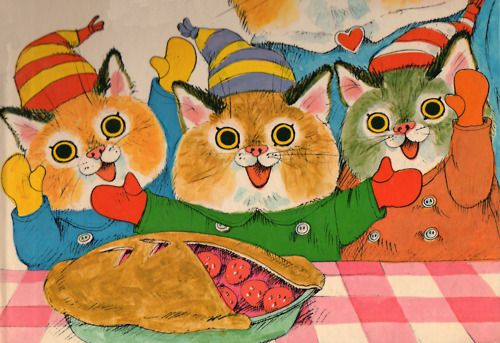 Richard Scarry Three Little Kittens You Found Your Mittens Now You