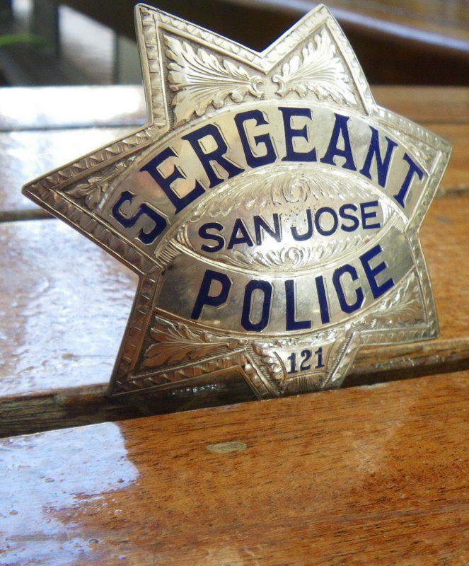 San Jose Police Engraved Badge By Samsast Engraved Badge Badge Police Badge