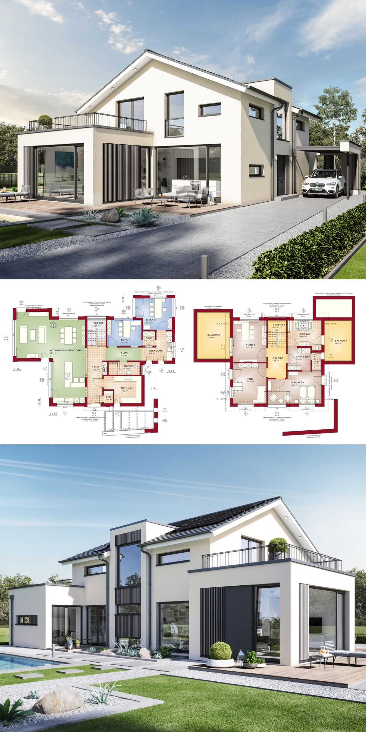 Einfamilienhaus Architektur Modern Mit Satteldach B Ro