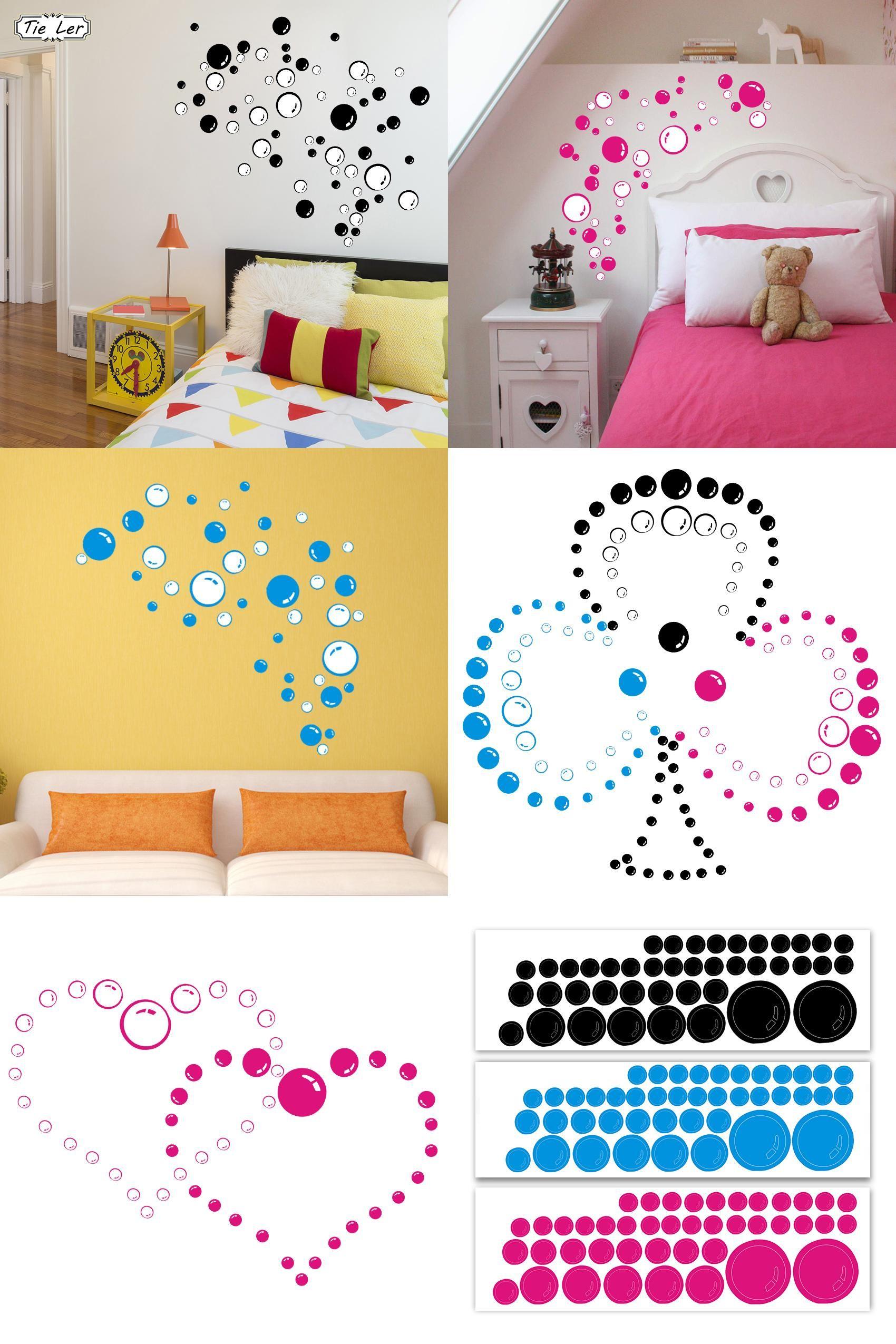 Visit to Buy] TIE LER Nursery Kitchen Bathroom Bubble Wall Sticker ...