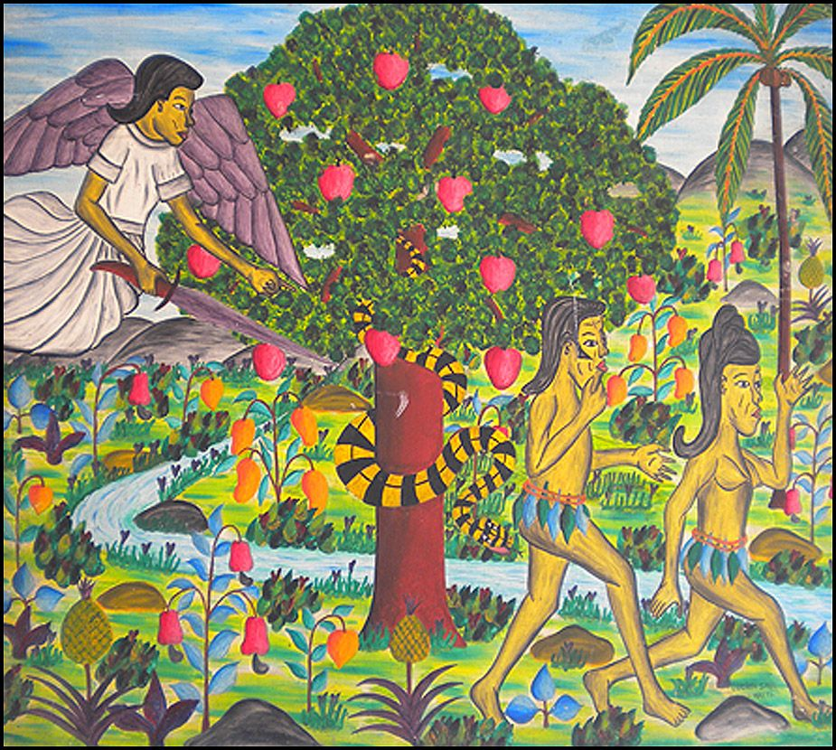Garden Of Art: Adam & Eve Leaving The Garden Of Eden By Lucien Saul