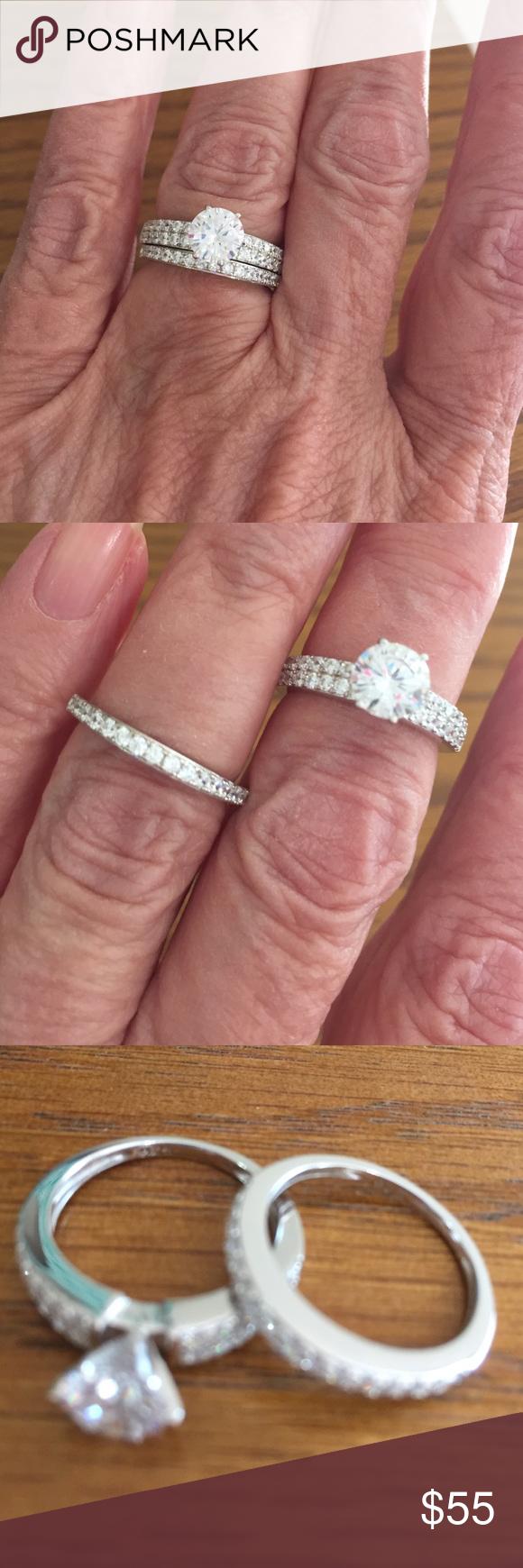 Beautiful simulated diamond wedding set   Wedding set, Retail and ...