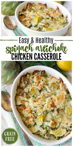 Healthy Spinach Artichoke Chicken Casserole images
