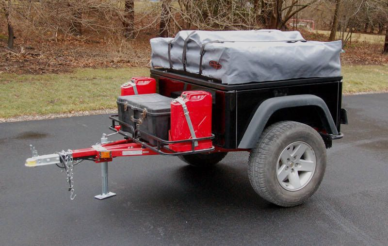 how to guide for converting a harbor freight 4x8 trailer to 4x4