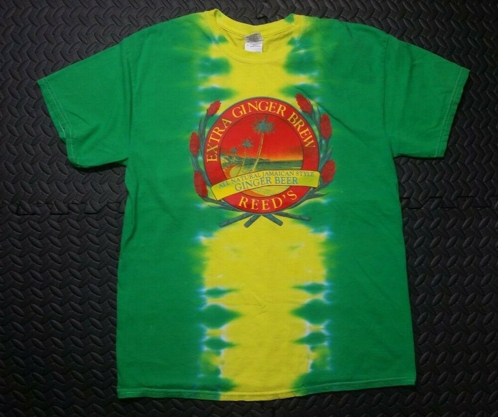 Vintage Tie Dye T Shirt Men S Sz L Jamaica Raster Reed S Beer Rare Multi Color Gildan Graphictee Mens Tshirts Tie Dye T Shirts Mens Shirts