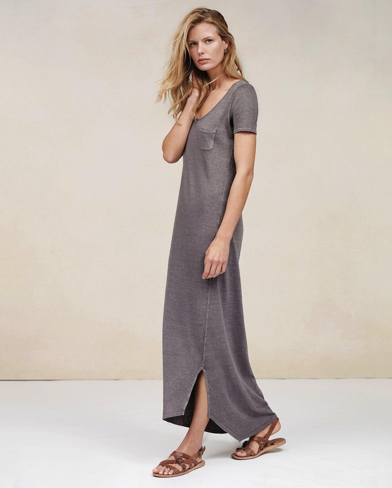 a0d94cb2f Short Sleeve Jersey Maxi Dress Uk