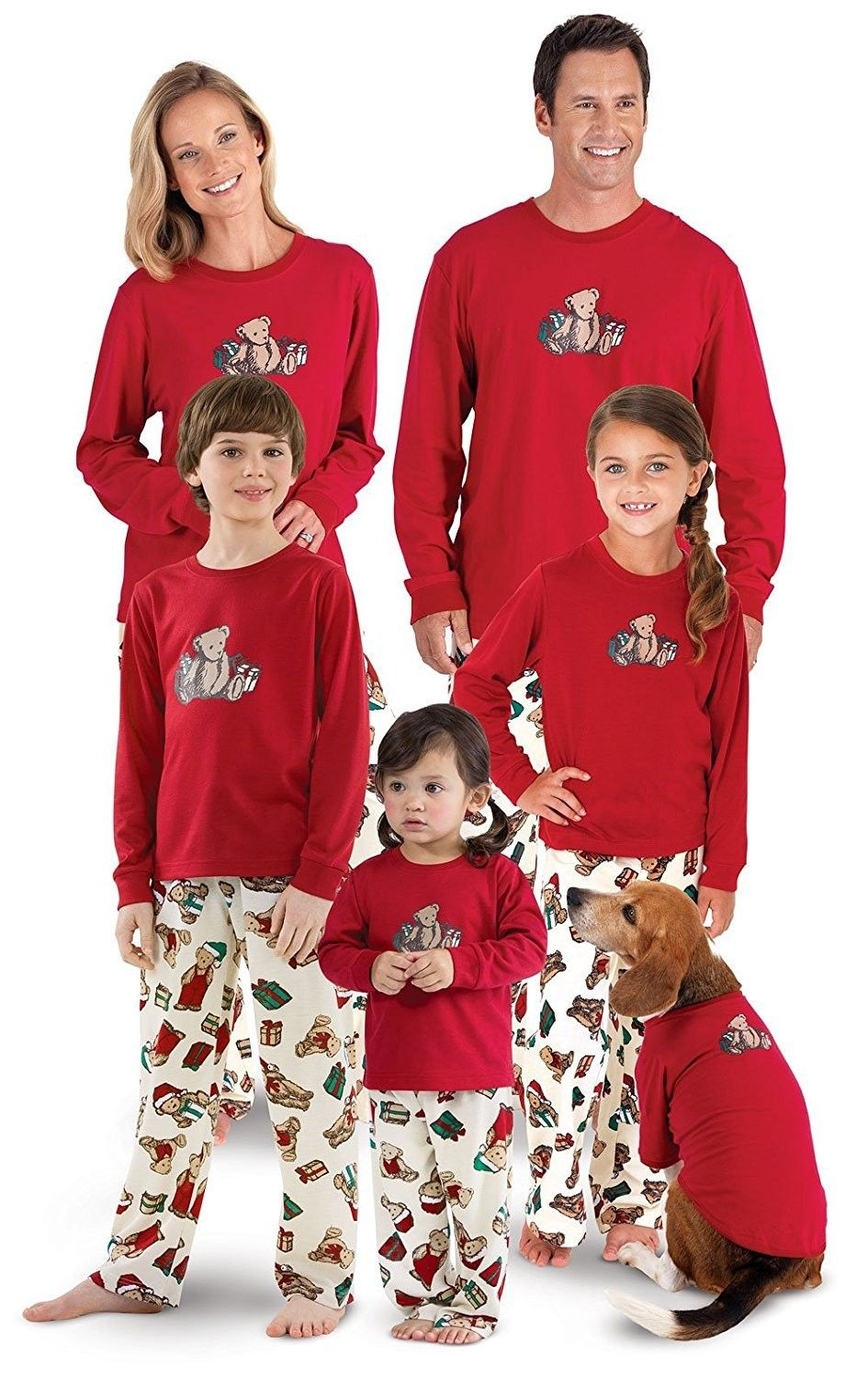d5b7483dd9 Vermont Teddy Bear Christmas Matching Family Pajamas- Red ...