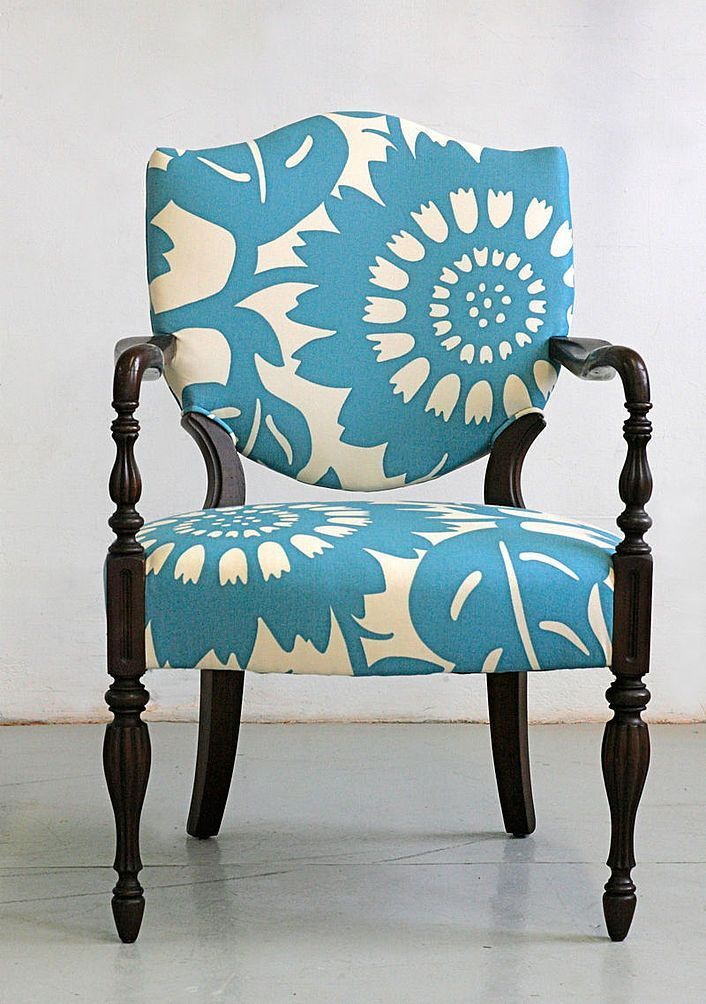 Up cycle old chairs. Fabrics can save almost any chair if it is the right one! #… Çocuk Odası