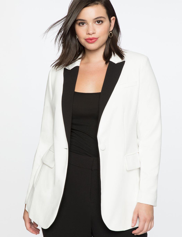 Long Tuxedo Jacket Women S Plus Size Coats Jackets Eloquii Plus Size Outerwear Tuxedo Jacket Plus Size Coats [ 1370 x 1050 Pixel ]