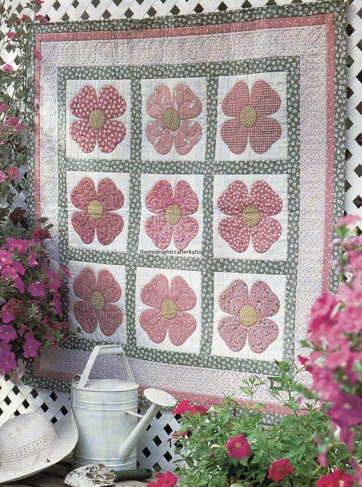 Pink Dogwood Quilt Pattern Pieced/Applique NM | Pink dogwood ... : dogwood quilt pattern - Adamdwight.com