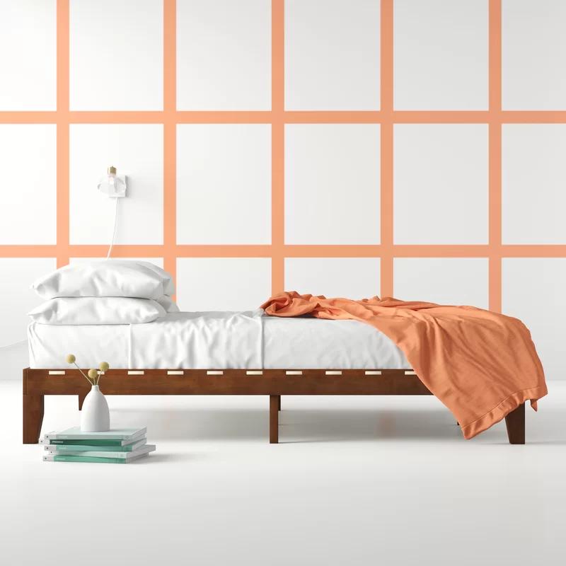 Aiden Platform Bed Platform bed sets, Leather platform