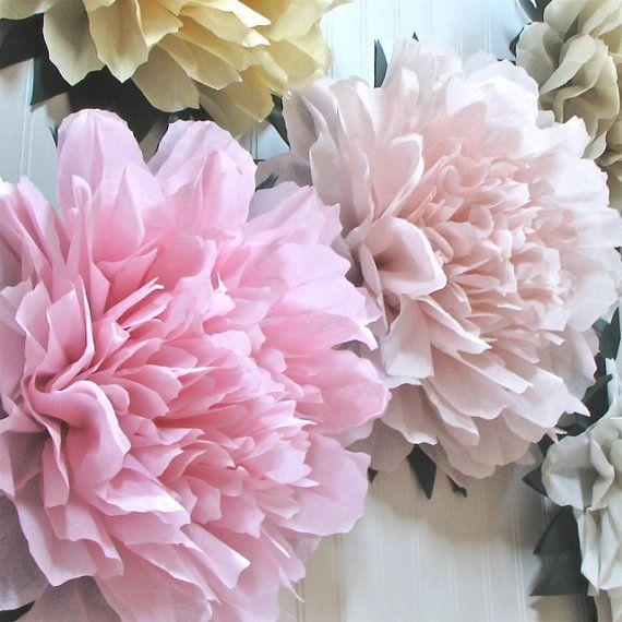 CUSTOM LISTING for NEHA 21 Giant Paper Flowers wonderland wedding