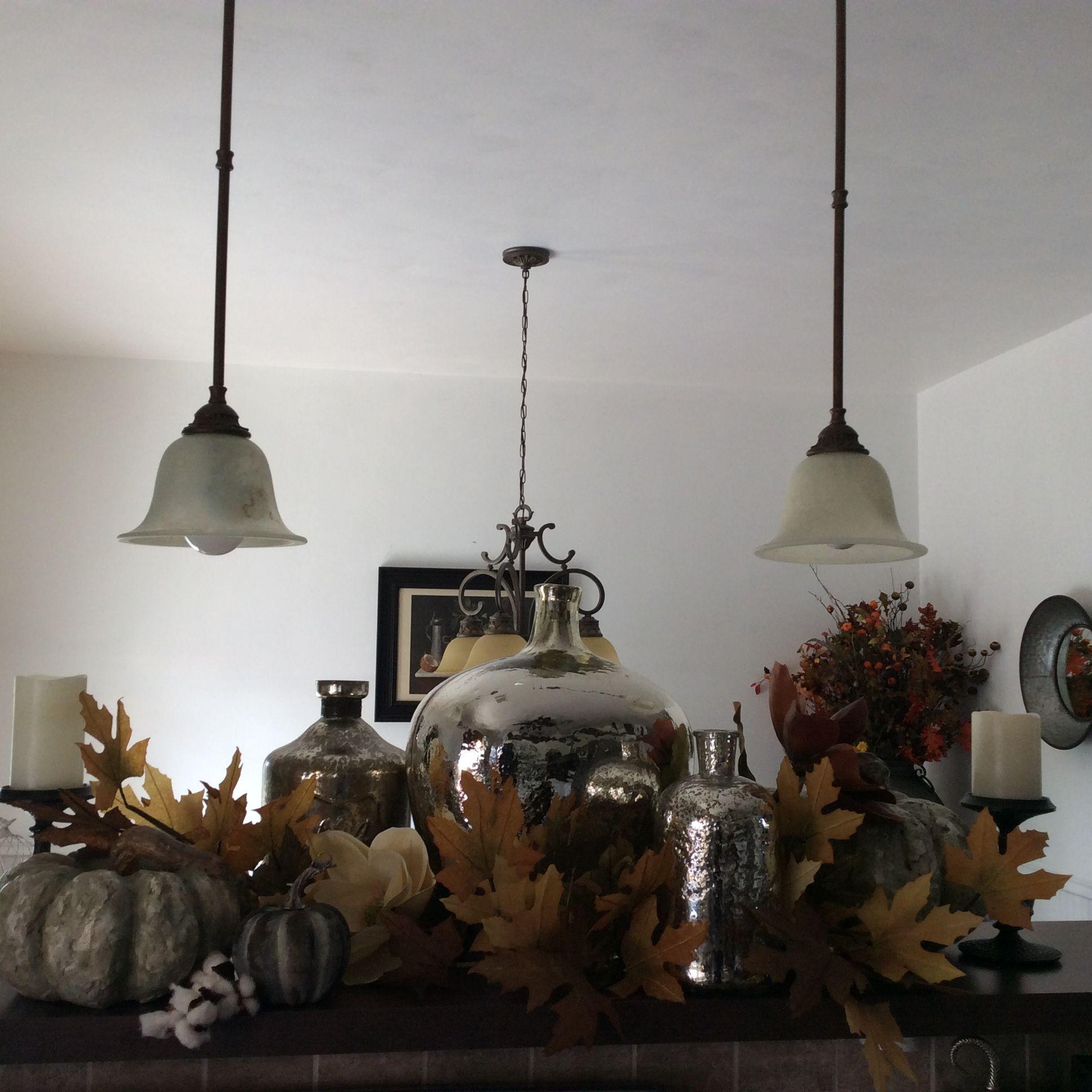 Autumn Mercury Glass Grouping