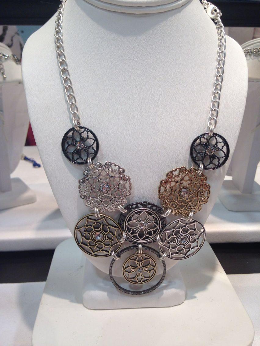 Premier designs jewelry 2015 - Social Circle Necklace Premier Designs 2015 2016 Collection Premierdesigns Pdstyle
