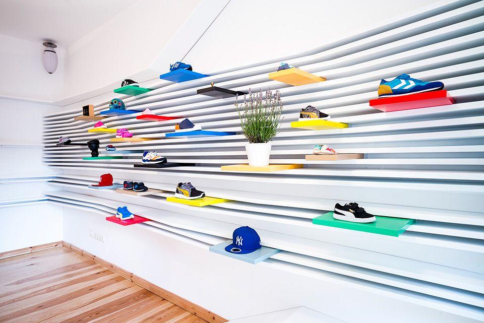 Shoe store design, Sneaker stores