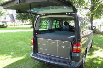 mac campingbox camping box in volkswagen t5 mini camper. Black Bedroom Furniture Sets. Home Design Ideas