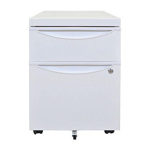 Hirsh 3 Drawer SOHO Steel File Cabinet, 18 Inch, Soft White
