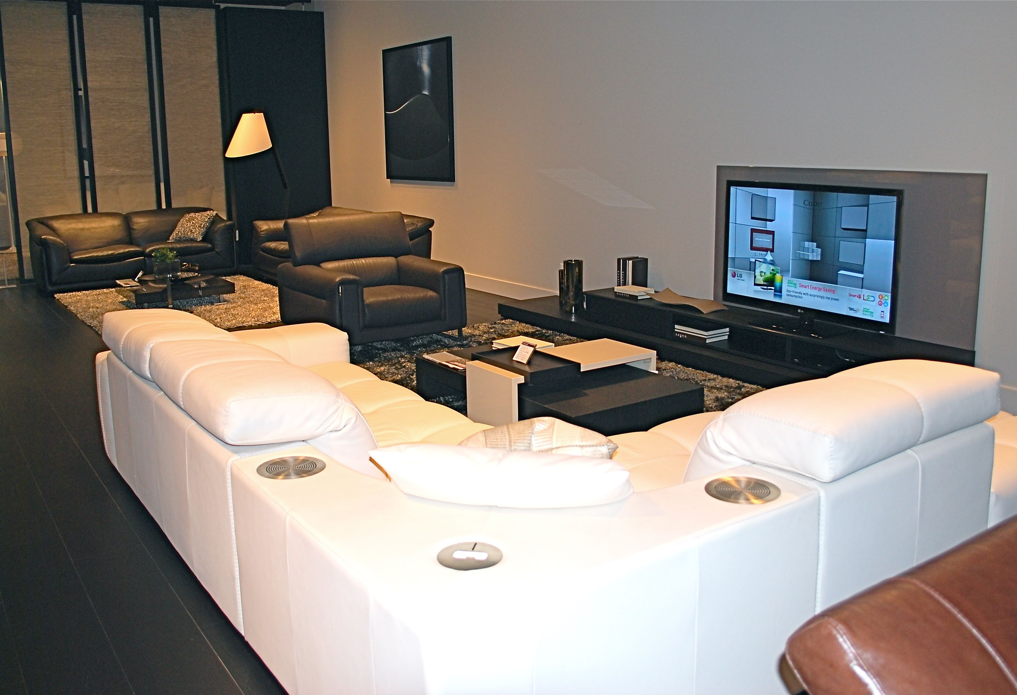 The Surround Sectional is one has a docking station and