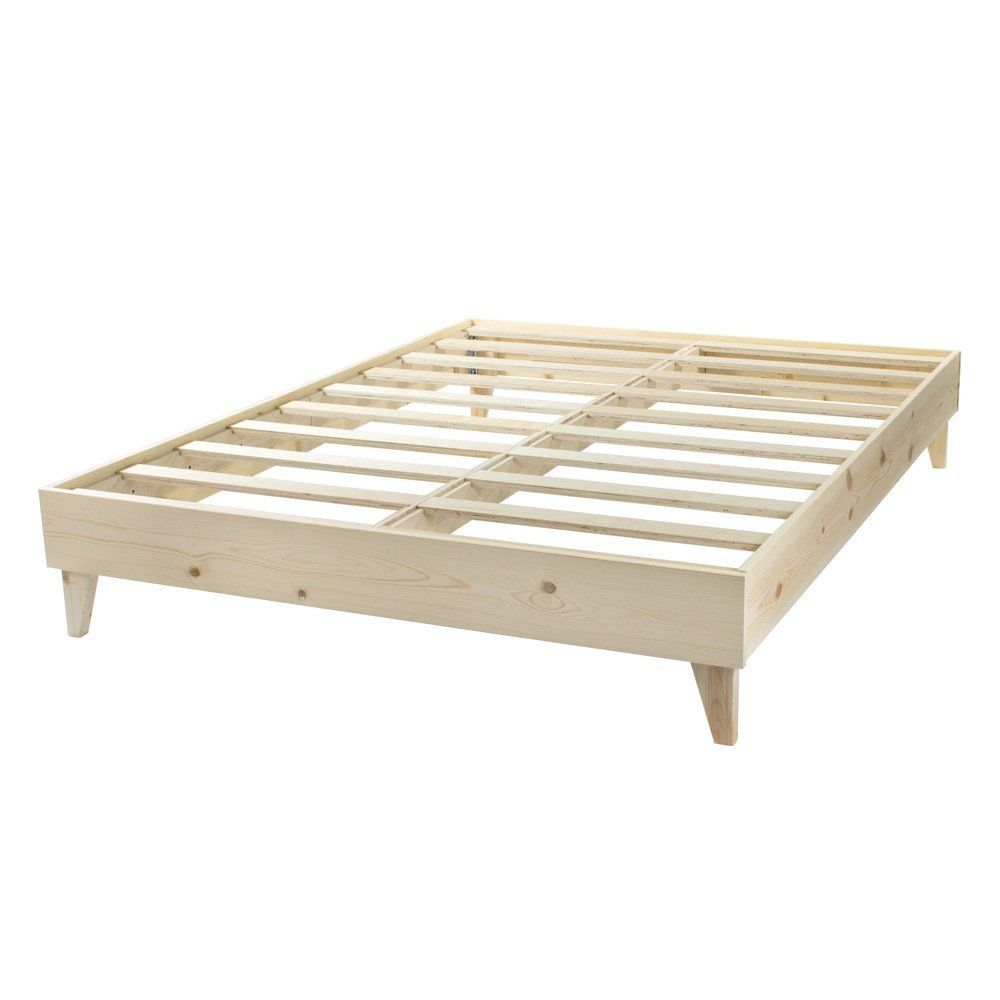Amazon.com: Platform Bed Frame - Made in the USA w/ 100% North ...