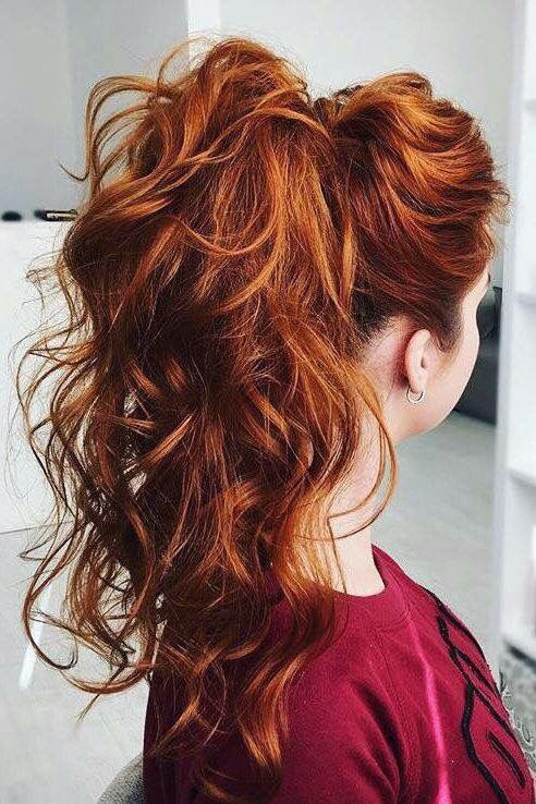 45 Copper Red Ginger Hair Color Ideas Koees Blog Hair Styles Ponytail Hairstyles Easy Curly Hair Styles