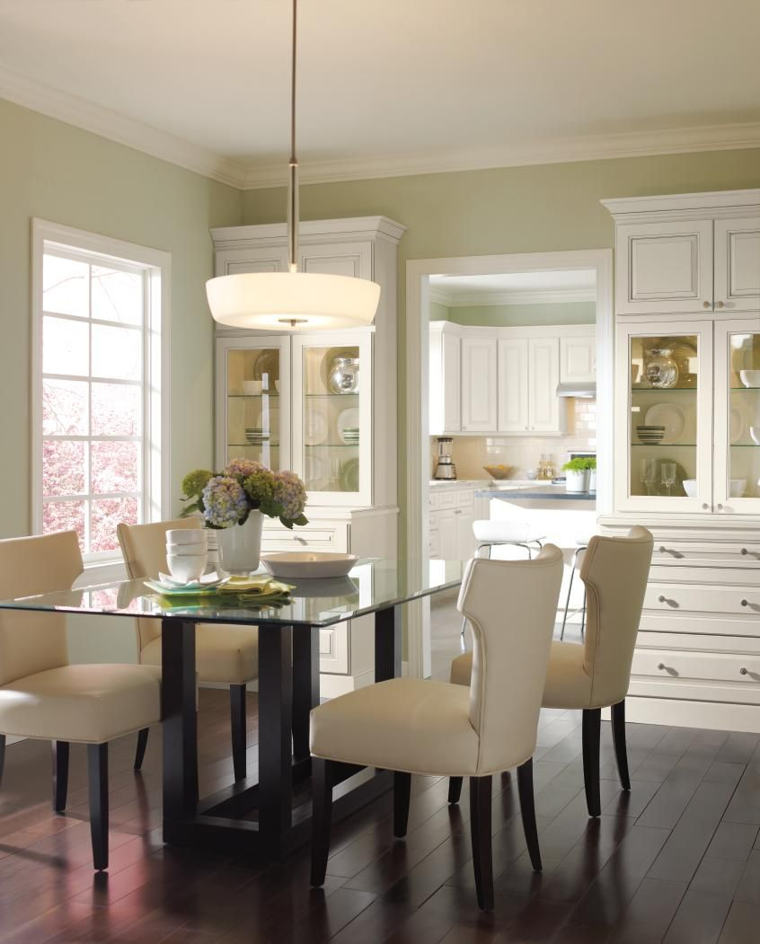Create A Seamless Transition Between Kitchen And Dining Room By Using Classic Cabinetry In Both Spa Homecrest Cabinets Dining Room Cabinet Buy Kitchen Cabinets