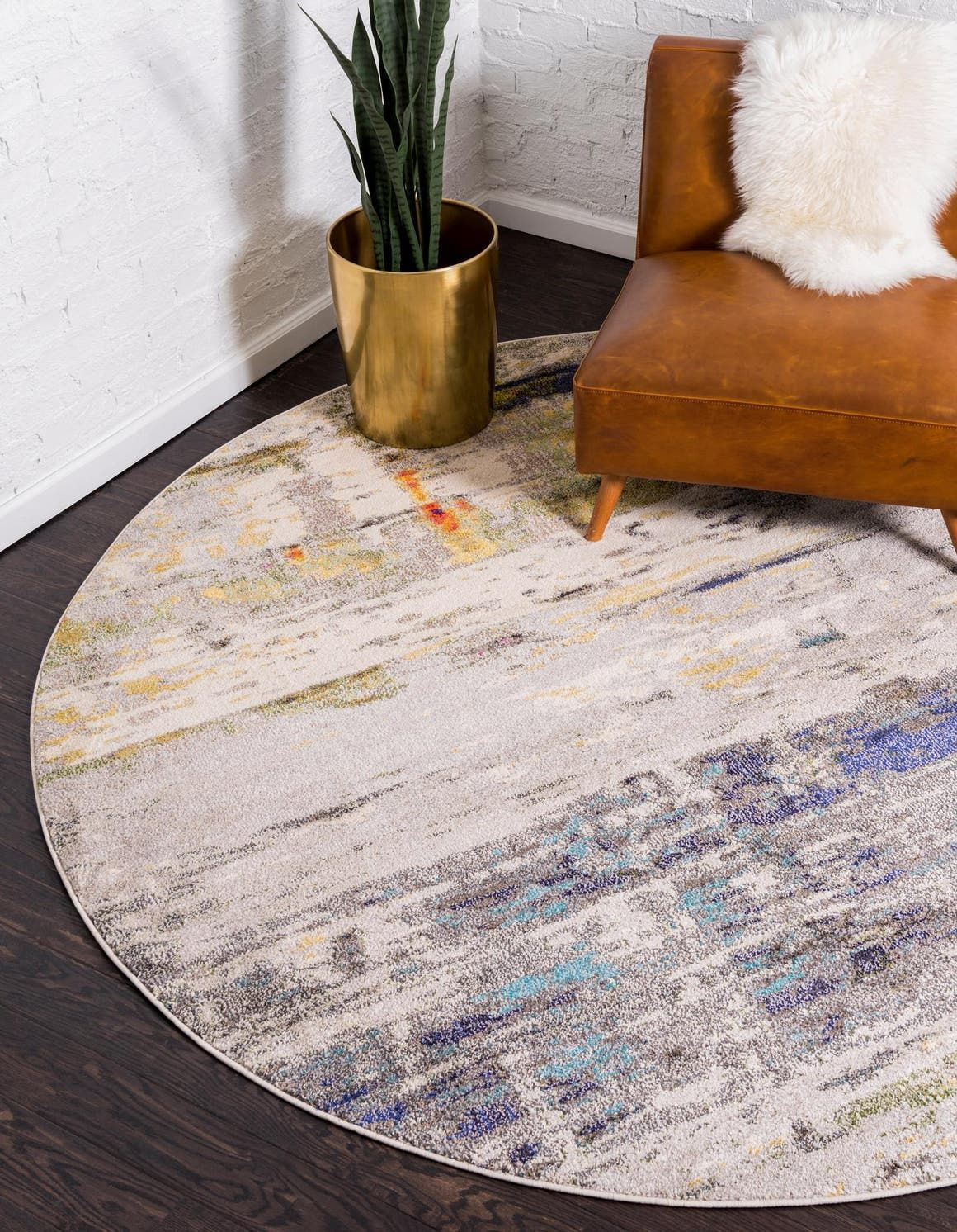 Theia Gray 8 Ft Round Area Rug In 2020 Rugs Round Area Rugs Round Rugs