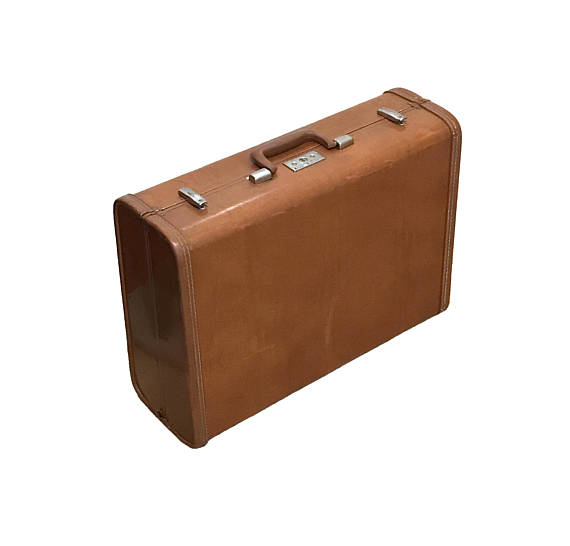 2ff5cb22e Vintage Suitcase Brown Leather v Royal Traveller Samsonite Luggage For  Crafts or Wedding Decor Upcy