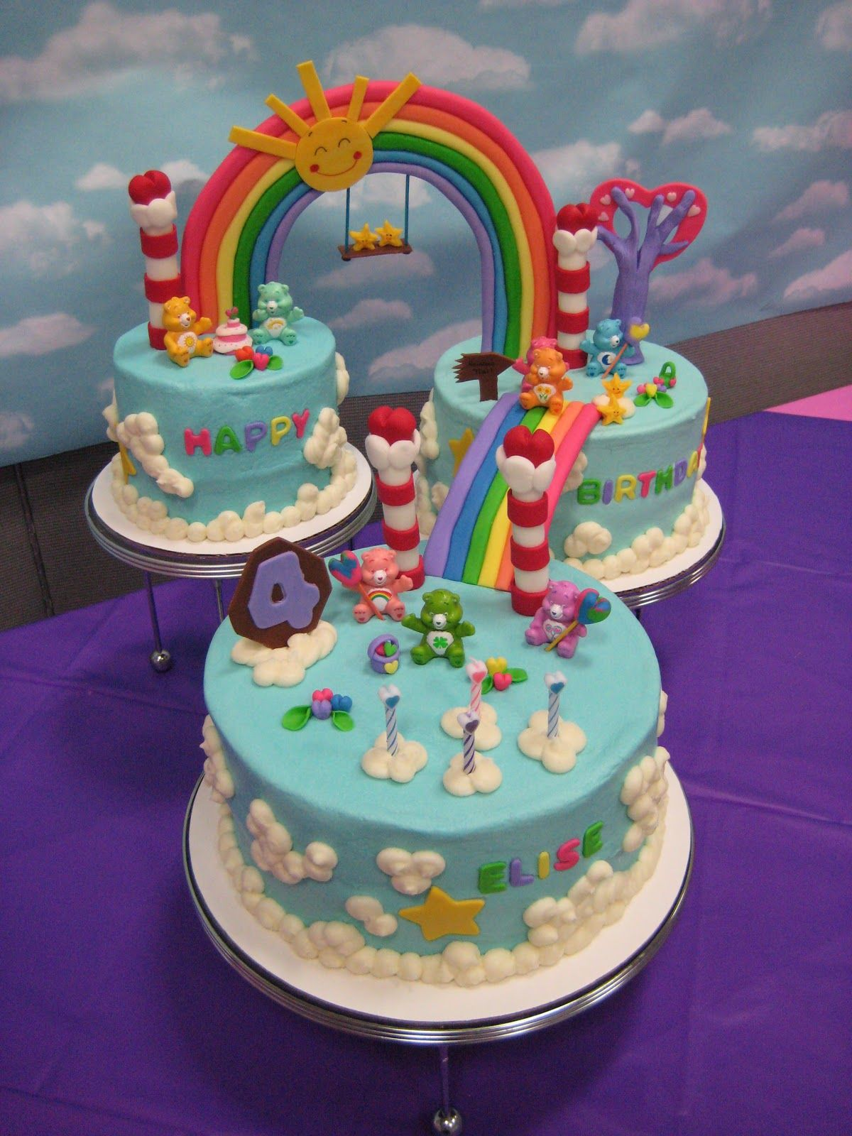 Care Bear Cake With Images Care Bear Cakes Bear Cakes Kids Cake