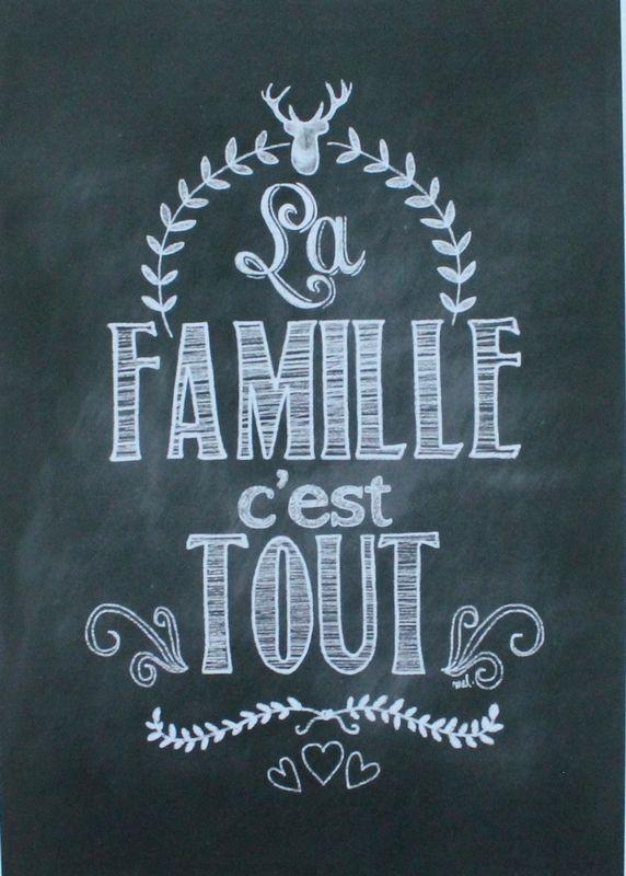 Decoration Affiche Phrase Famille Et Cadre Salon