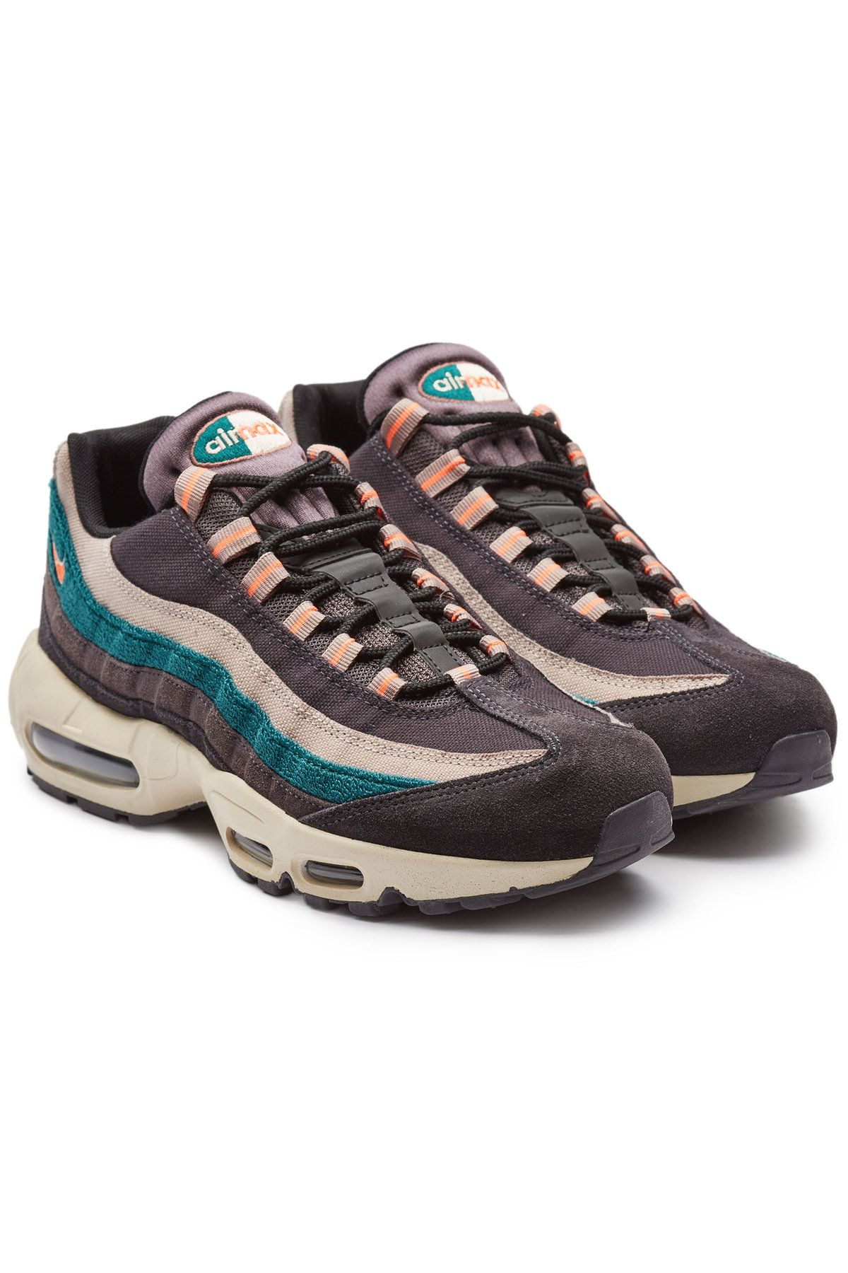 NIKE AIR MAX 95 PREMIUM SUEDE LEATHER SNEAKERS. #nike #shoes