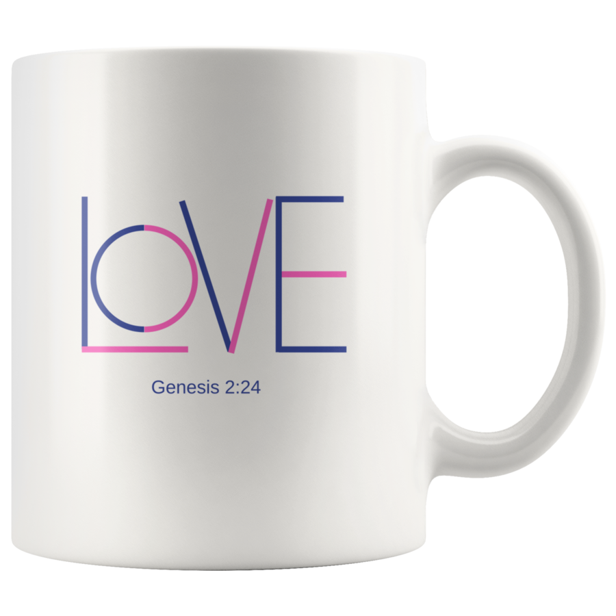 Love coffee mug, coffee mug with bible verse Mugs