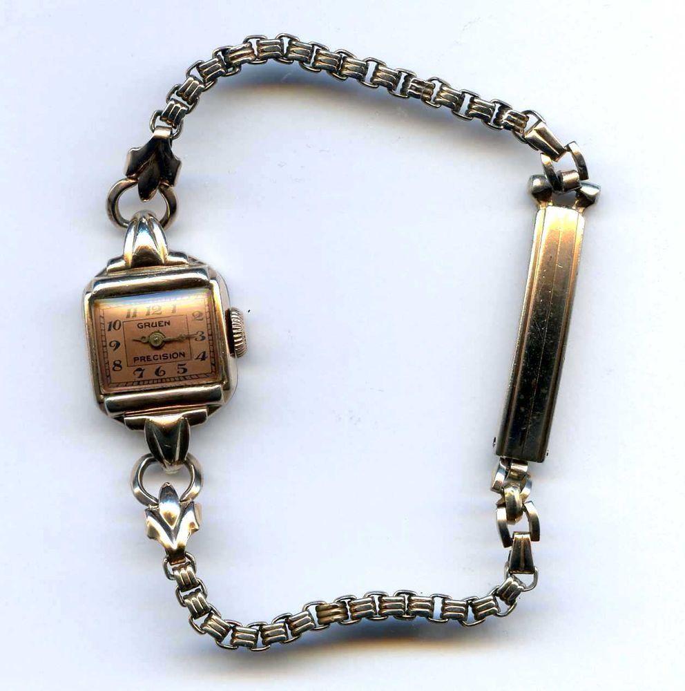 Gruen Precision 17J Copper Dial Swiss Ladies Windup Watch VeriThin Not Running