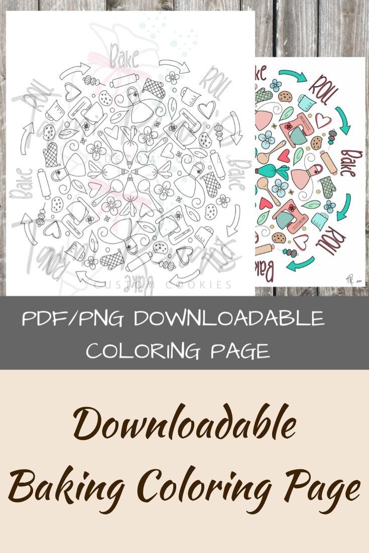 Baking Downloadable Coloring Page In Pdf And Png Files Coloring Pages Procreate App Color