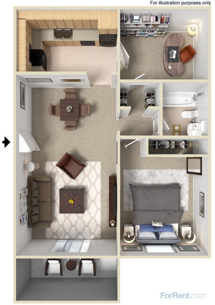Overlook Estates Apartments For Rent In Nashville Tennessee Small Apartment Floor Plans Small Apartment Plans Sims House Design